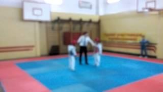 соревнование ТХЭКВОНДО лицей Петру Мовилэ спарринг 12
