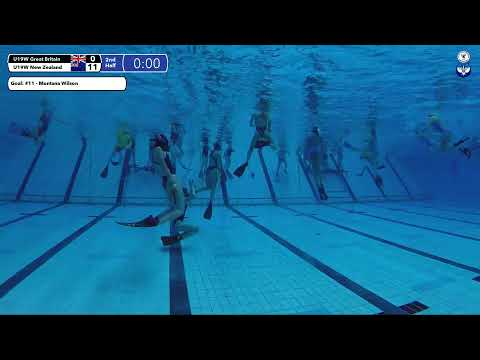 Game 191  (NZL vs GBR U19W) - 5th CMAS Underwater Hockey Age Group Worlds - Sheffield, UK (Court A)