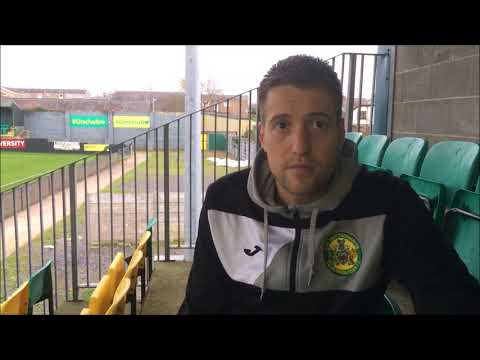 Gareth Edwards post match interview after Town's 6-2 defeat of Gresford. 28/10/2017.