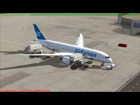 Tutorial español QualityWings B 787 desde cold & dark a ILS Landing