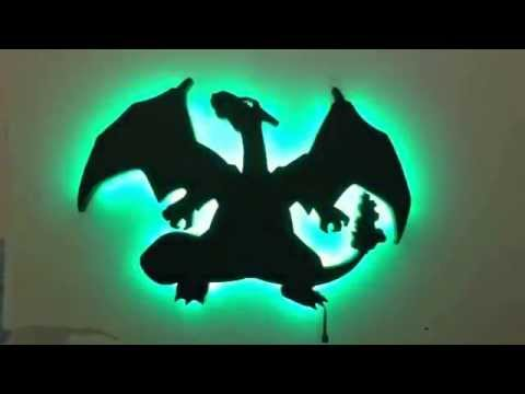 Led Wall Art charizard led wall art pokemon - youtube
