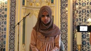 Maryam Masud is reciting Surah Al Fil Al Adiyat and Al Ala