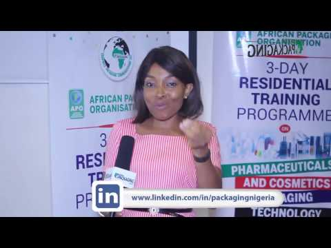 NIGERIA PACAKAGING AFRICA PACKAGING RTP Cosmetics and Pharmaceutical Packaging Training course 2017