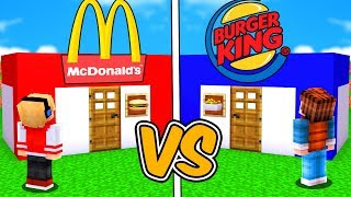 CASA NO MCDONALD'S VS CASA NO BURGER KING DO MINECRAFT !