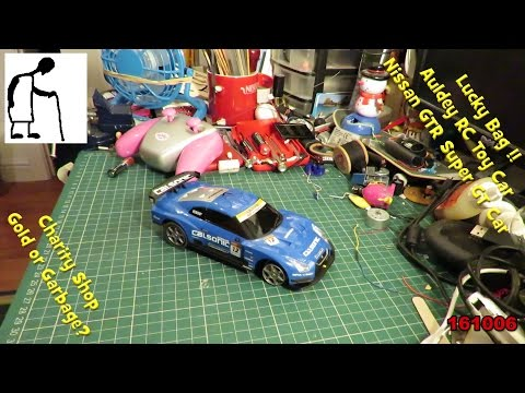 Charity Shop Gold or Garbage Lucky Bag 161006 RC Toy Car Nissan