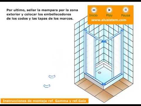 Instrucciones de montaje mampara de ducha angular youtube - Montaje mampara ducha ...