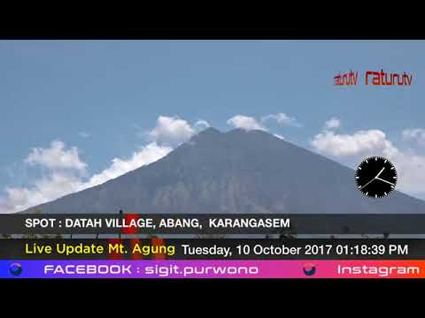 Mount Agung The volcano in Bali live real time ( Gunung Agung Recorded Version ) 10102017