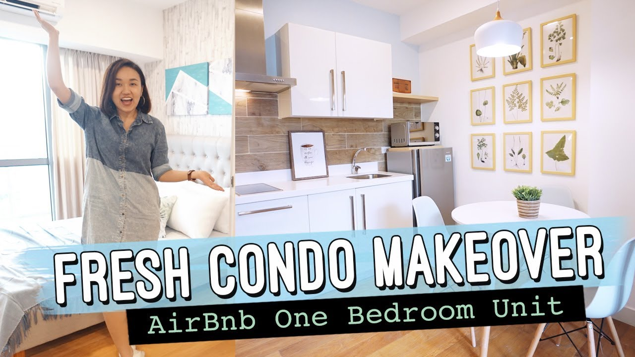 Fresh Condo Makeover Airbnb White Modern One Bedroom By Elle Uy Youtube
