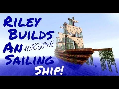 Minecraft Man: Riley Builds a Sailing Ship!