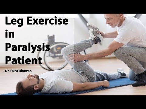 Leg Exercise in Paralysis Patient पैर की
