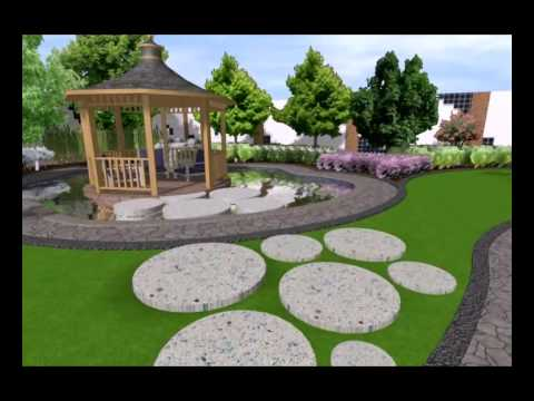 Villa landscape design youtube for Landscape villa design