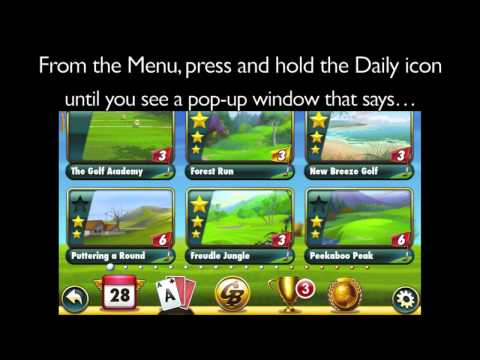 Resetting The Daily Courses In Fairway Solitaire