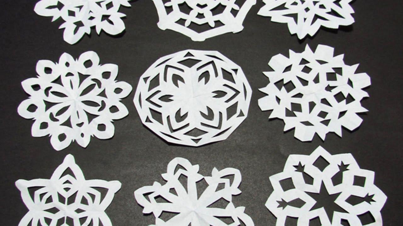 Fiocchi Di Neve Di Carta Facili : Crea divertenti fiocchi di neve appesi di carta fai da te