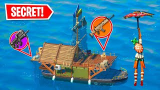Secret Loot Boat ONLY Challenge In Fortnite Season 3