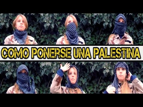 Como ponerse una palestina/shemagh // 6 formas de ponerse un pañuelo.