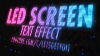 Screen LED Text Effect - Photoshop Tutorial
