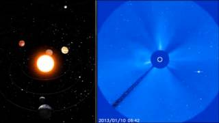 Solar activity in Sagittarius & Mercury planet seen from the SOHO spacecraft (Jan 5 to 12, 2013)