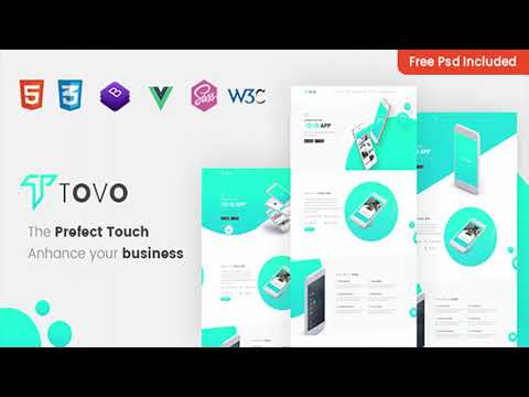 Tovo - Vue JS App Landing Page | Themeforest Website Templates and Themes