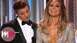 Repeat youtube video Top 10 Cringiest Golden Globe Moments