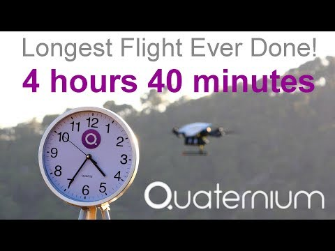 WORLD RECORD OF DRONE ENDURANCE! HYBRiX multicopter: 4 hours 40 min flight - by Quaternium
