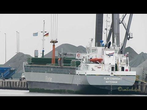 coaster FLINTERBRIGHT PHAN IMO 9279422 Emden cargo ship merchant vessel KüMo