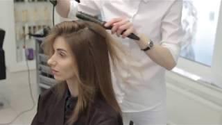 Мелирование SunLight стрижка машинкой длинные волосы