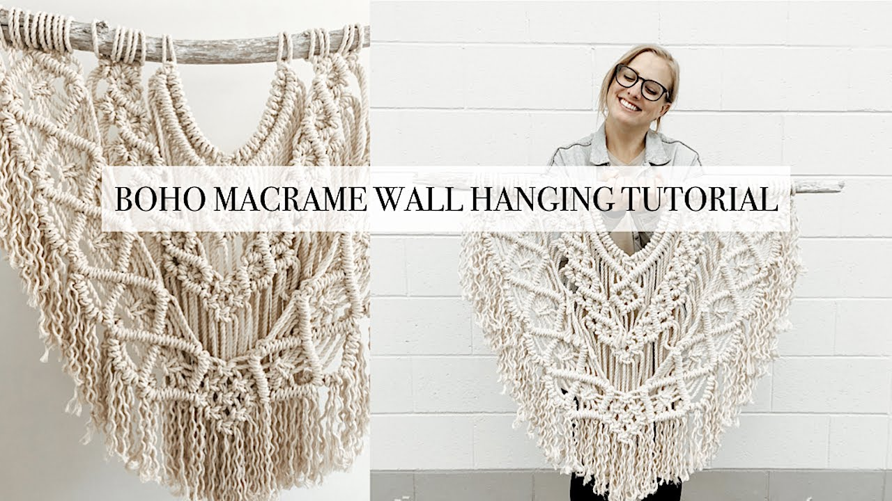 How To Diy Large Boho Macrame Wall Hanging Tutorial Youtube