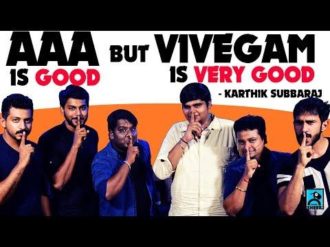 AAA is good but Vivegam is very good - Karthik Subbaraj | Movie Nights | Black sheep