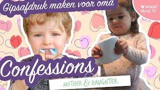 Jonah & Pippa maken een gipsafdrukje voor oma | Mom&Daughter Confessions  | X LOVE, MUM!