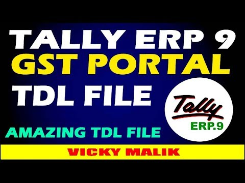 GST TDL For Tally ERP 9 || GST Portal TDL File || Download Free TDL Files  || #Free TDL || Vky Malik
