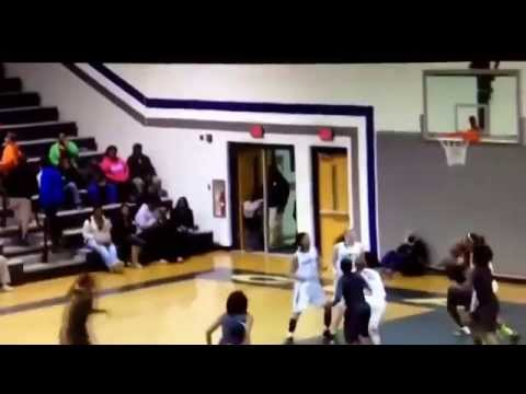 "Jade Phillips ""Famous No Look Pass"" Southeast  Raleigh High School vs Clayton"
