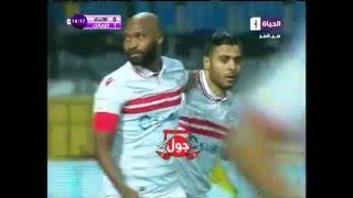 بالفيديو.. 'عبد الخالق' يفتتح التسجيل للزمالك في مرمى زعيم الثغر