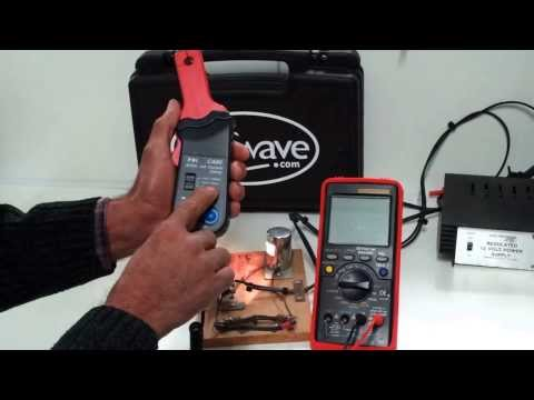 Testing Current With An Amp Probe Vs In-series Current Testing ESI-595