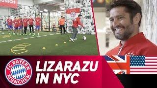 Lizarazu visits New York City!