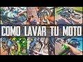 Como Lavar tu Moto Sin Agua!!! Llantas + Cadena + Plásticos + Colectores ( Fácil, Rápido & en Seco )