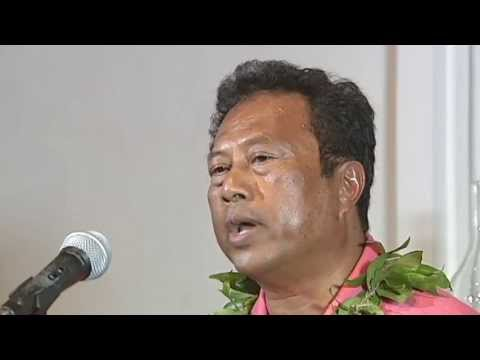 President of Palau Thomas Remengesau in Puako - part 1