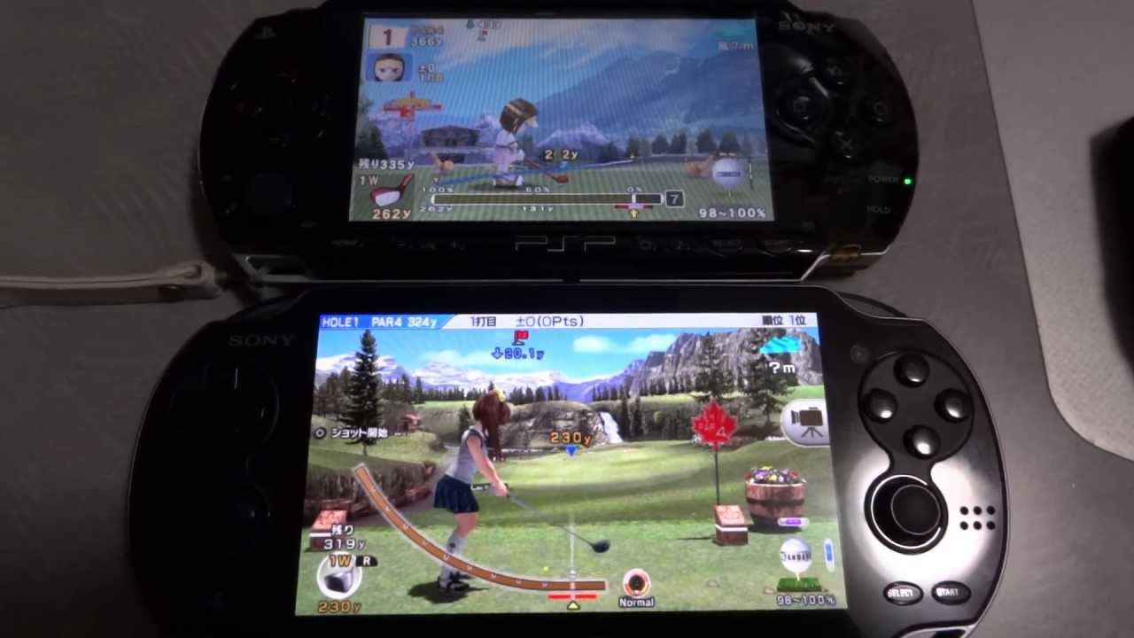 Playstation Vita Vs Psp : Ps vita vs psp (みんなのgolf) youtube