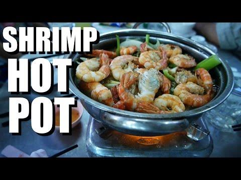 Vietnamese Food: SHRIMP HOT POT - Lau Tom Nam Ri - in Bien Hoa
