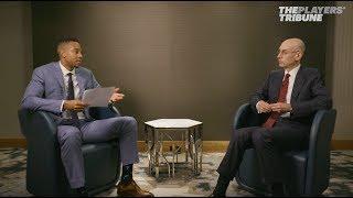 CJ McCollum Interviews NBA Commissioner Adam Silver