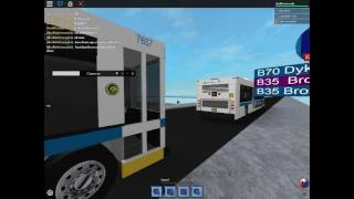 Roblox MTA 2003 Orion VII CNG B35 bus number 7657 at Sunset Park to Brooklyn