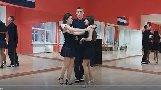Сальса втроем. Урок 08. Обнимашки (вариации). Новосибирск, 2018 03