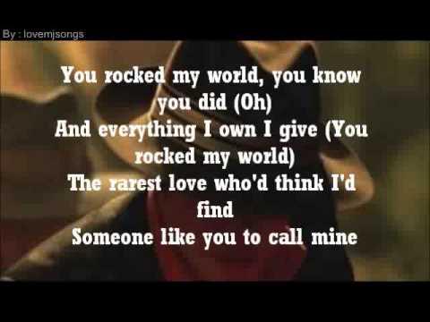 michael jackson - you rock my world (lyrics)