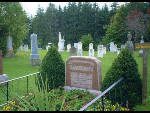 Phantom image is the grave of Lucy Maud in Canada