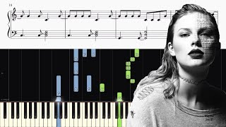 Video Taylor Swift - Getaway Car - Piano Tutorial + SHEETS download MP3, 3GP, MP4, WEBM, AVI, FLV Agustus 2018