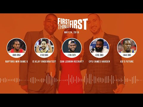 First Things First audio podcast(5.24.19)Cris Carter, Nick Wright, Jenna Wolfe | FIRST THINGS FIRST