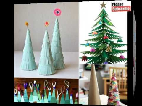 Easy Christmas Paper Crafts Beautiful Handmade Set Of Diy Picture