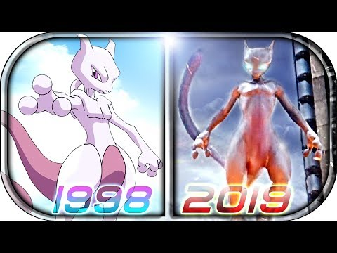 EVOLUTION Of MEWTWO In Movies Cartoons Anime TV (1998-2019)💀 POKÉMON Detective Pikachu MEWTWO Scene
