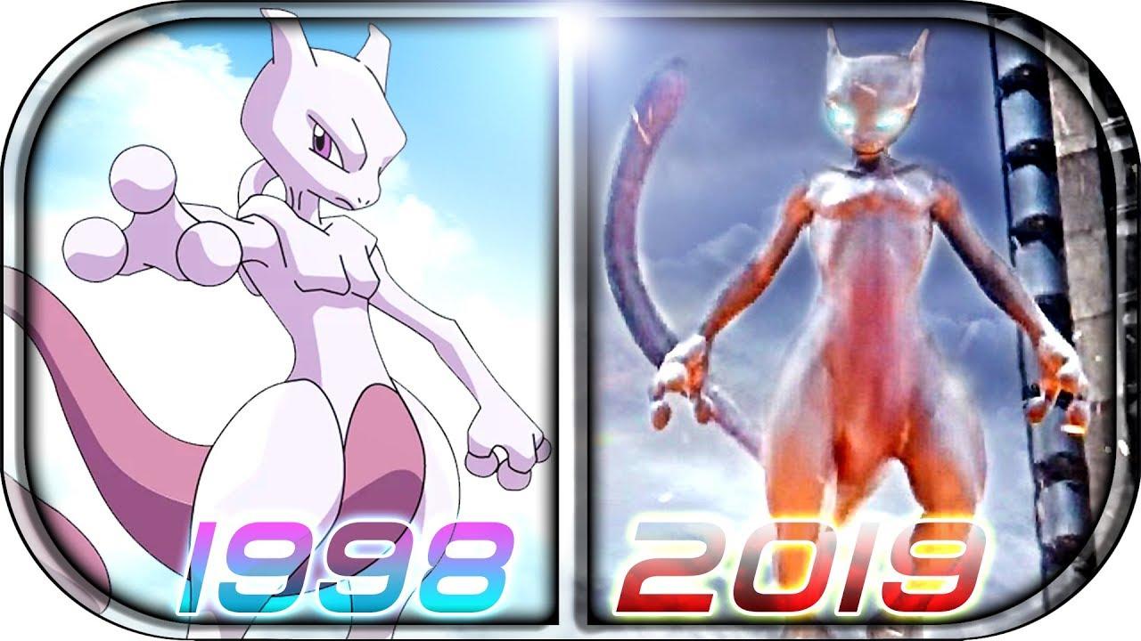 Evolution of mewtwo in movies cartoons anime tv 1998 2019 pok mon detective pikachu mewtwo - Mewtwo evolution ...