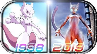 EVOLUTION of MEWTWO in Movies Cartoons Anime TV (1998-2019)???? POKÉMON Detective Pikachu MEWTWO sce