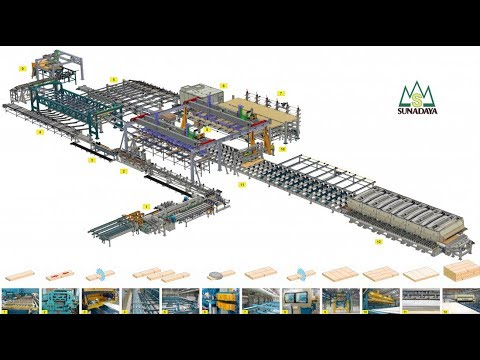 CLT production line in Japan NextGen Sunadaya CLT Line